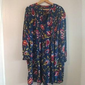 Old Navy Drop Waist Foral Long Sleeve Dress XXL